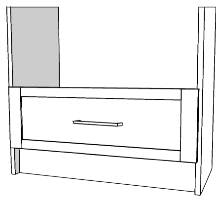 """White Extra Drawer Tall 30"""""""