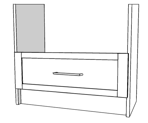 """White Extra Drawer Tall 18"""""""