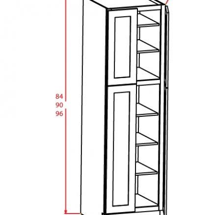 U249024 Wall Pantry Cabinet 24 inch by 90 inch by 24 inch Sheffield Sandstone