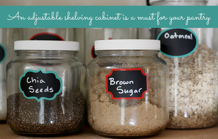 Closet Components Are Perfect for Your Pantry