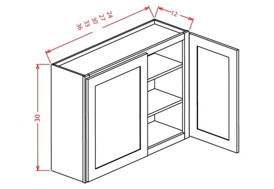 W2430 Wall Cabinet 24 inch by 30 inch Tacoma White
