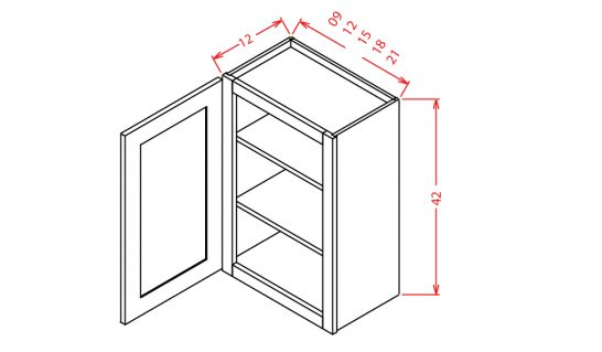 W0942 Wall Cabinet 9 inch by 42 inch Tacoma White