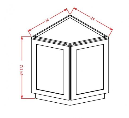 BEC24 Angle Base End Cabinet 24 inch Tacoma White