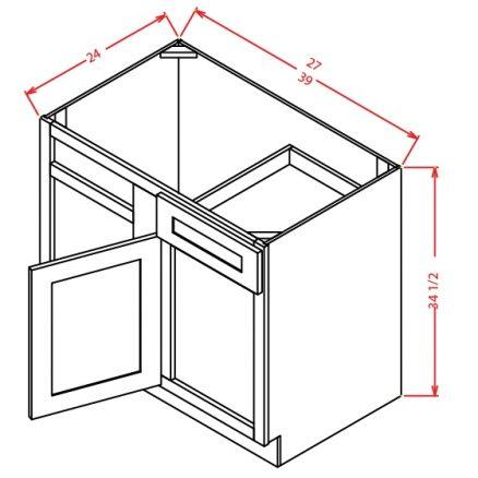 BBC36 Blind Base Cabinet 36 inch Shaker Dusk