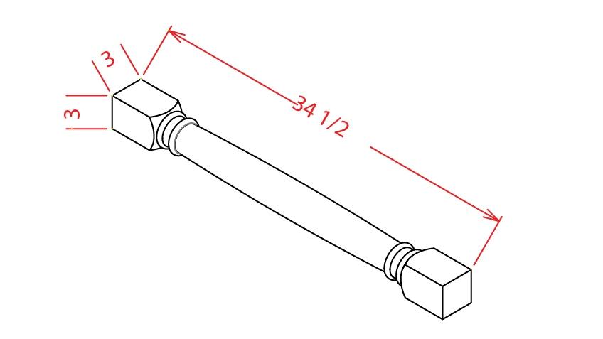 CLDL 3 inch Classic Decorative Leg Shaker Dusk
