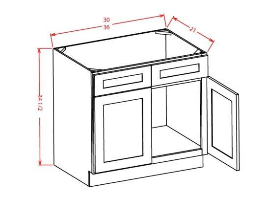 VS30 Vanity Sink Base Cabinet 30 inch Tacoma White