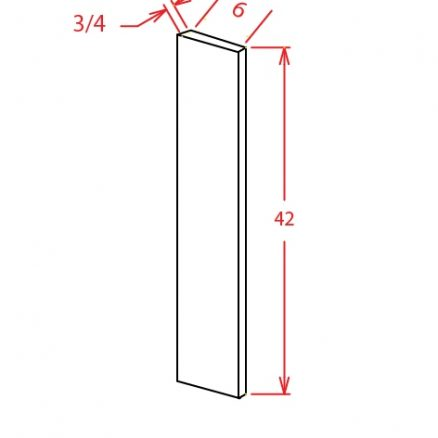 F642 Wall Filler 6 inch Wide Tacoma White