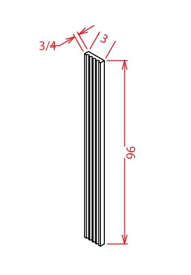 FF396 Fluted Tall Filler 3 inch Wide Shaker Dusk
