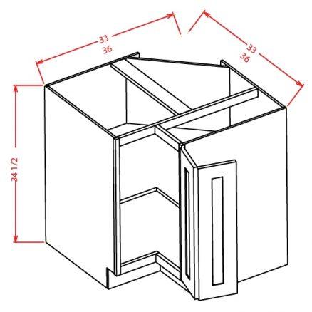 BER33 Base Easy Reach Cabinet 33 inch Shaker Dusk