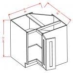 BER36 Base Easy Reach Cabinet 36 inch Shaker Dusk