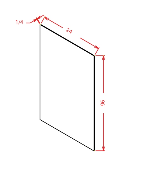 Cabinet Corp Shaker Dusk: Panel-Universal Skin Veneer 24 X 96