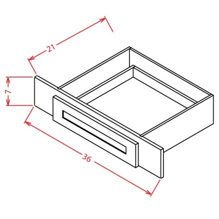 VKD36 Vanity Knee Drawer Tacoma White