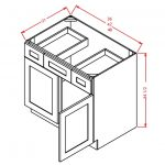 VSD42 Vanity Sink Drawer Base Cabinet 42 inch Tacoma White
