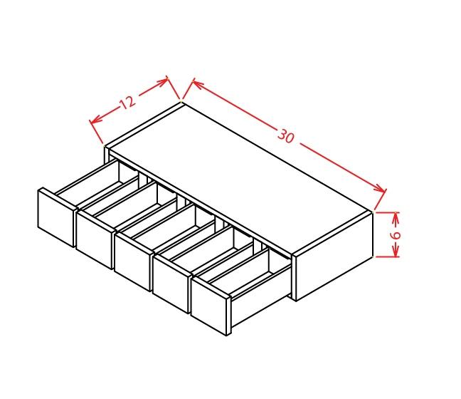 WSD630 Wall Spice Drawer Shaker Dusk