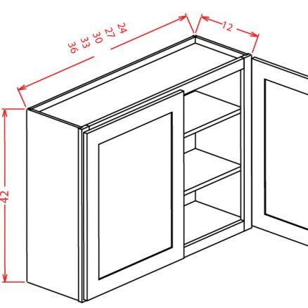 W2742 Wall Cabinet 27 inch by 42 inch Tacoma Dusk