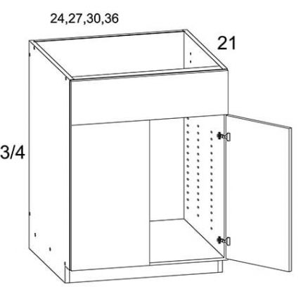 MGWVS27 Two Door Vanity Sink Base Cabinet