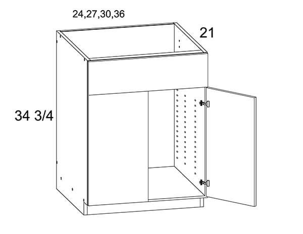 MGWVS30 Two Door Vanity Sink Base Cabinet