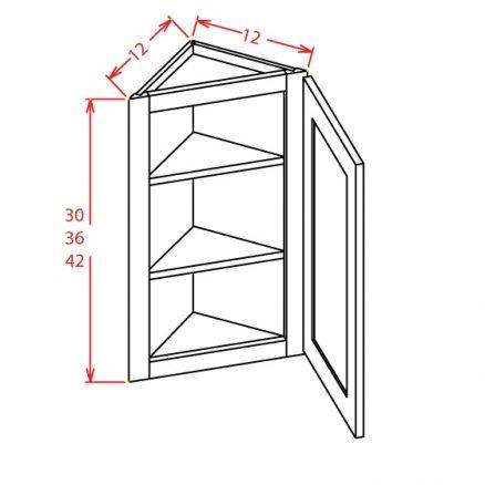 AW1236 Angle Wall Cabinet 36 inch Tacoma Dusk