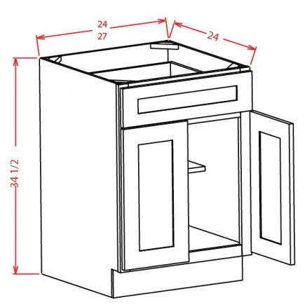 B24 Base Cabinet 24 inch Tacoma Dusk