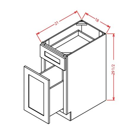 DFB18 Two Drawer File Base Cabinet 18 inch Tacoma Dusk