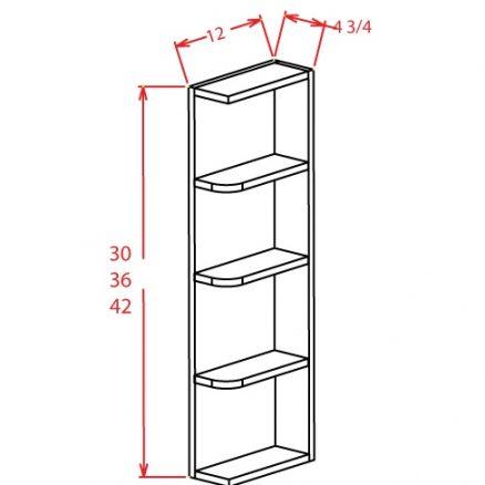 OE630 Wall End Shelf 6 inch by 30 inch Tacoma Dusk