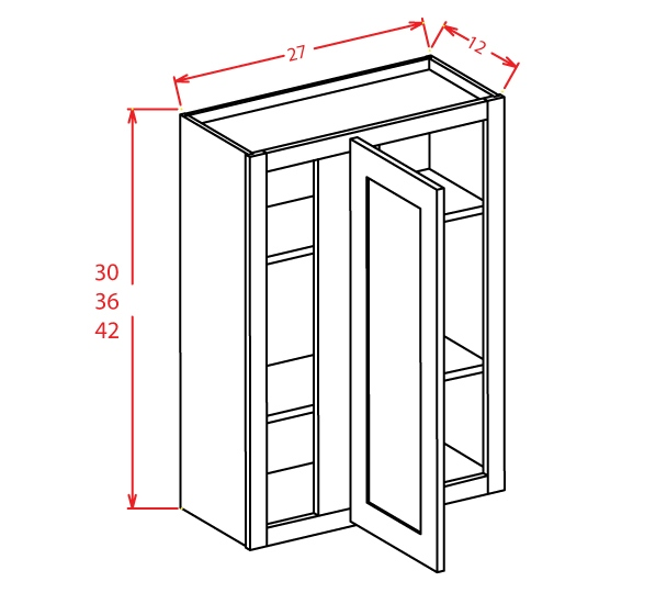 WBC2736 Wall Blind Cabinet 27 inch by 36 inch Tacoma Dusk
