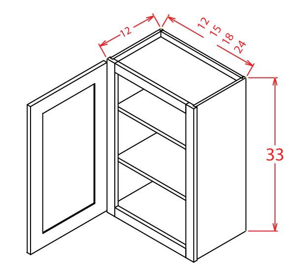 W3315 Bridge Cabinet 33 inch by 15 inch Sheffield White