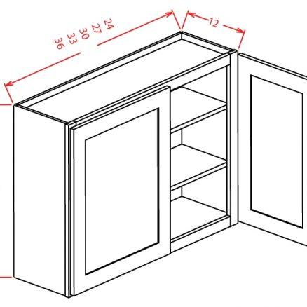 W3336 Wall Cabinet 33 inch by 36 inch Sheffield White