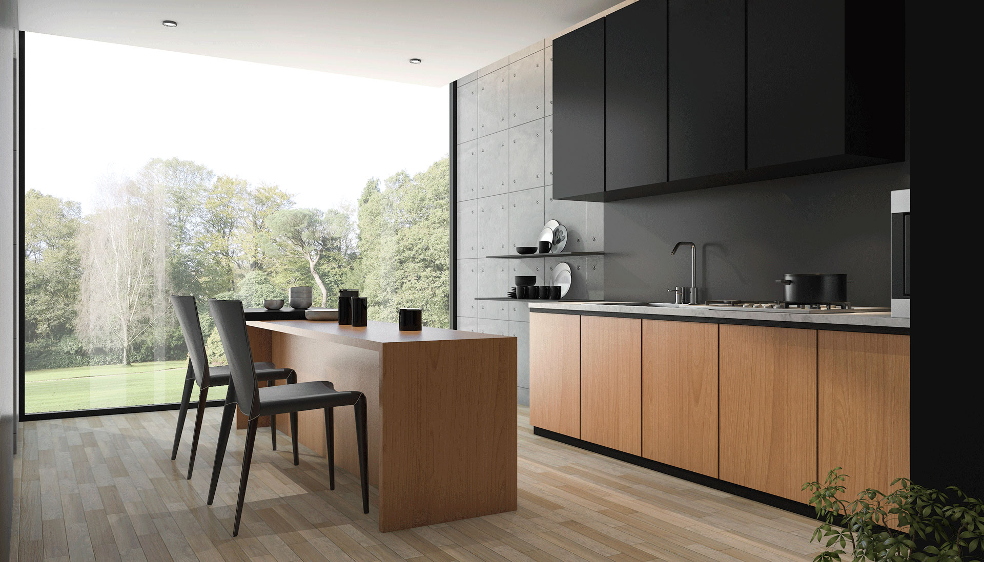 Perhaps people who prefer the open concept kitchens are those who have taken to minimalism these kitchens do have everything you need and since they