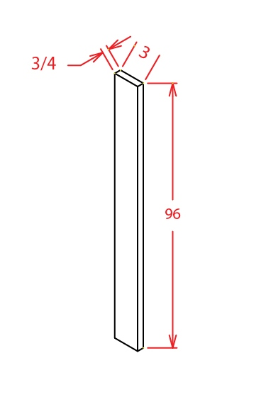 F396 Tall Filler 3 inch Wide Sheffield White