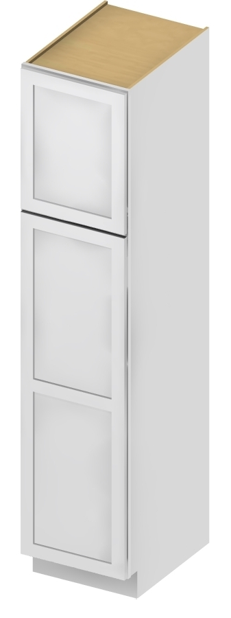 U188424 Wall Pantry Cabinet 18 inch by 84 inch by 24 inch Shaker Antique White