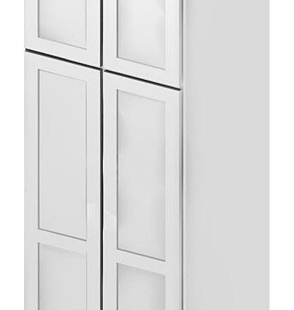 U309624 Wall Pantry Cabinet 30 inch by 96 inch by 24 inch Shaker Antique White
