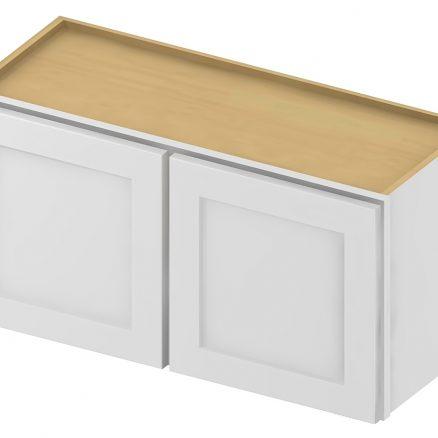 W3012 Bridge Cabinet 30 inch by 12 inch Shaker Antique White
