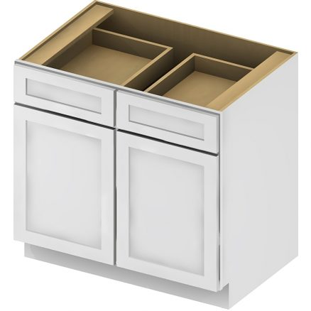 B42 Base Cabinet 42 inch Shaker Antique White