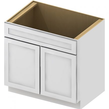 SB36 Sink Base Cabinet 36 inch Shaker Antique White