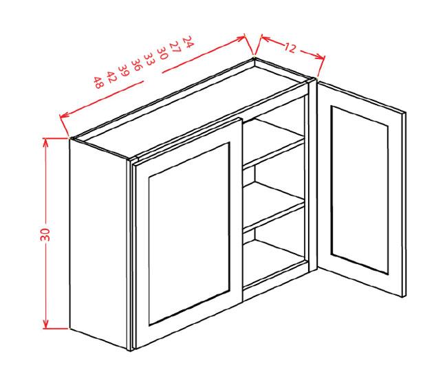 W3942 Wall Cabinet 39 inch by 42 inch Sheffield White