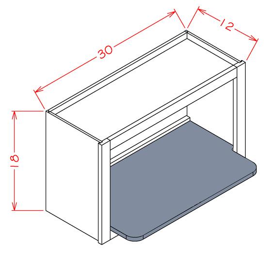 Wmsshelf Dusk Wall Microwave Shelf