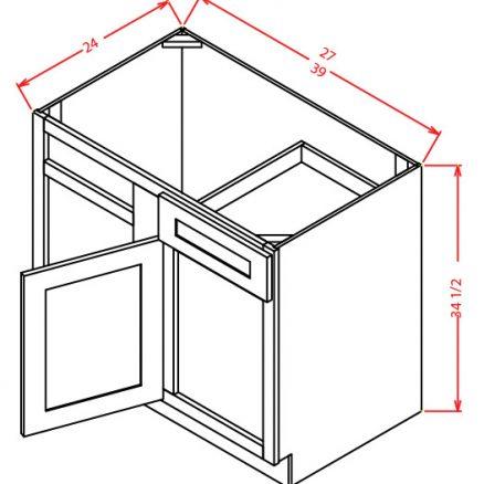 BBC42 Blind Base Cabinet 42 inch Sheffield White