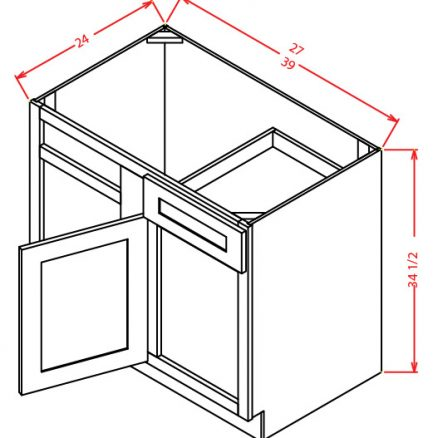 BBC42 Blind Base Cabinet 42 inch Shaker Espresso