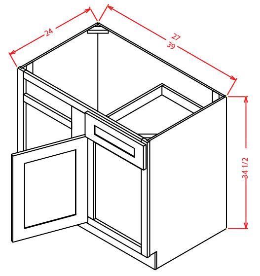 BBC42 Blind Base Cabinet 42 inch Shaker Antique White