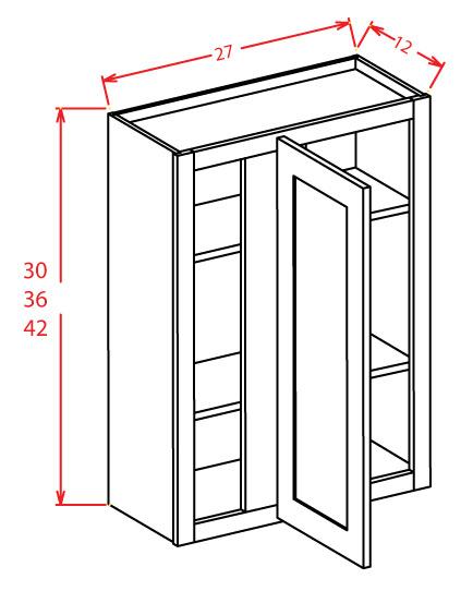 WBC2742 Wall Blind Cabinet 27 inch by 42 inch Shaker Dusk