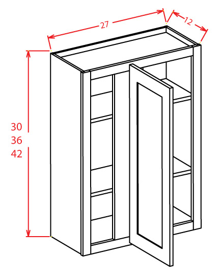 WBC2742 Wall Blind Cabinet 27 inch by 42 inch Shaker Gray