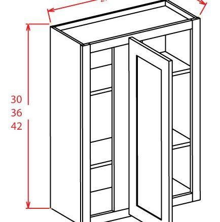 WBC2742 Wall Blind Cabinet 27 inch by 42 inch Shaker Espresso
