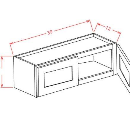 W3924 Bridge Cabinet 39 inch by 24 inch Sheffield Sandstone
