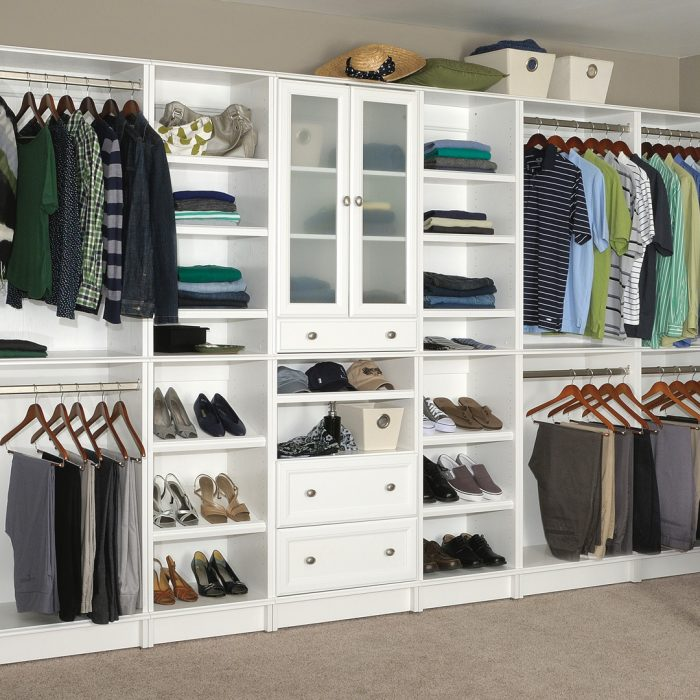White Closet Cabinets