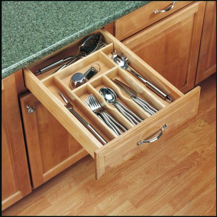 """4WCT-1SH - Trimmable Wood Cutlery Tray 14 5/8"""" to 8 3/4"""""""