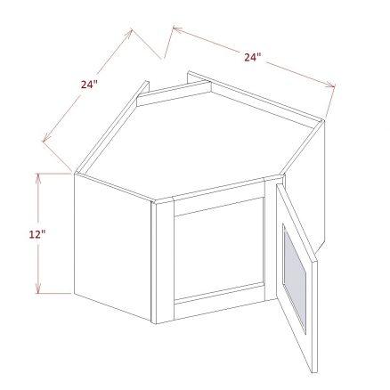 SA-DCW2712GD - Diagonal Corner Stacker Wall Cabinets - 27 inch