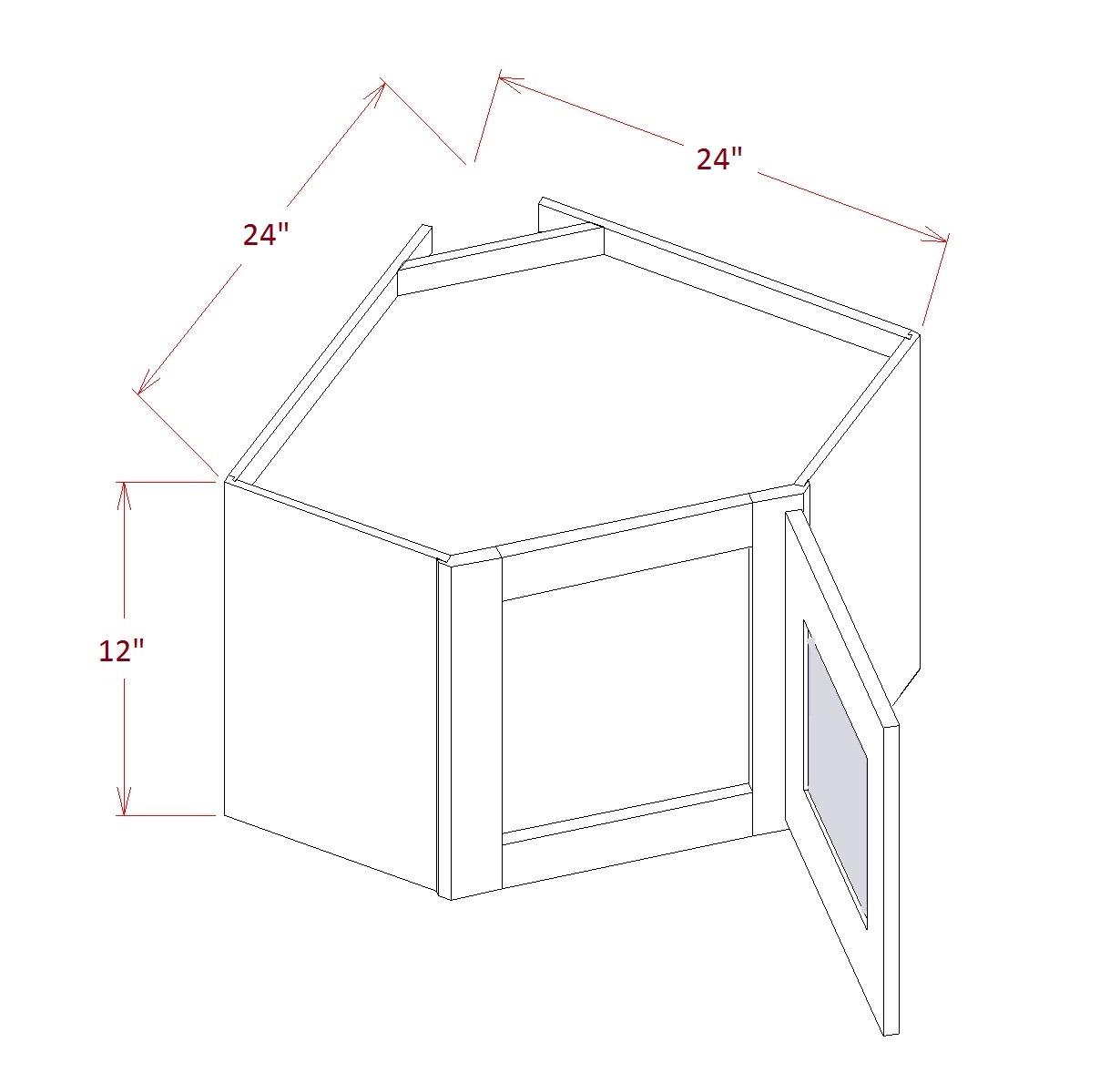 SA-DCW2412GD - Diagonal Corner Stacker Wall Cabinets - 24 inch