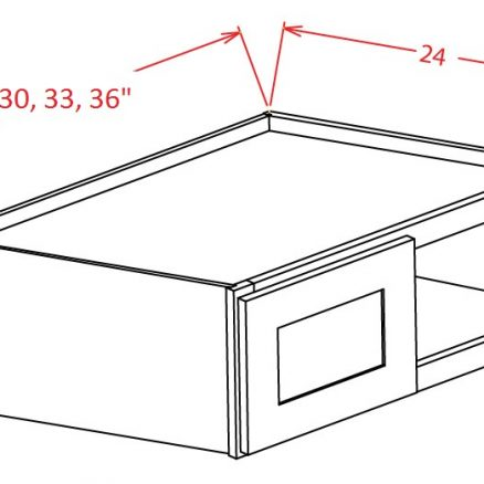 CS-W331524 - Refrigerator Wall Cabinet - 33 inch