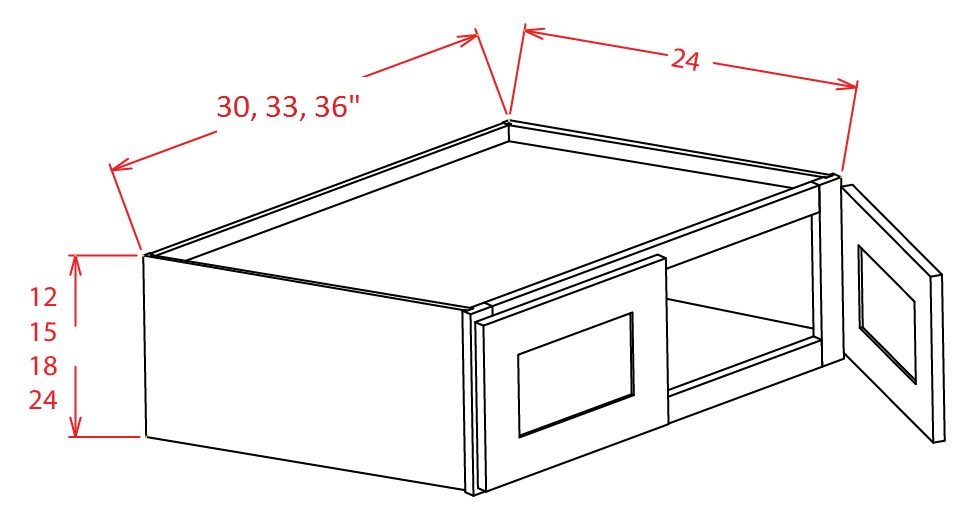 SA-W331224 - Refrigerator Wall Cabinet - 33 inch